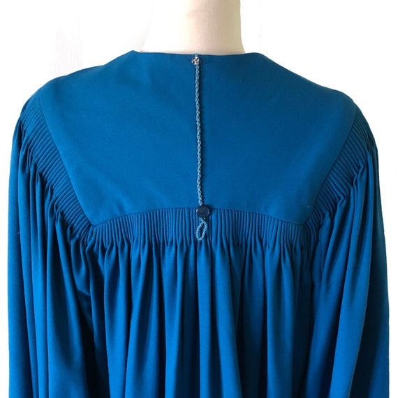 Vintage graduation gown, choir robe, blue, angel … - image 5