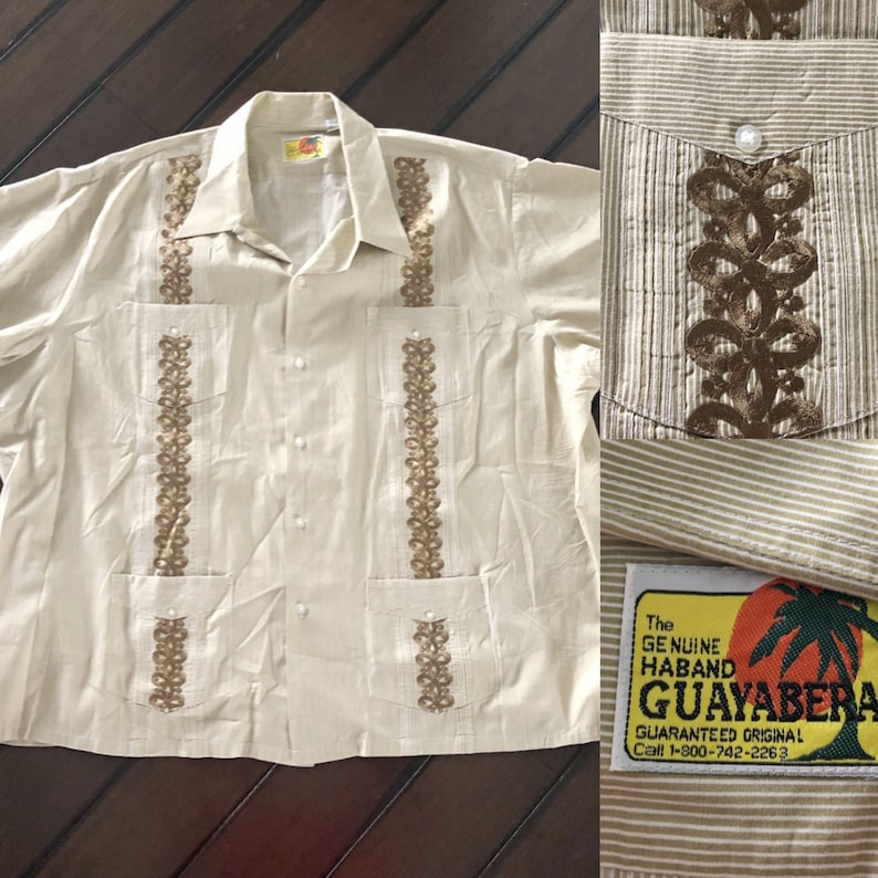 825591ff4a Vintage genuine Haband Guayabera men s Mexican wedding