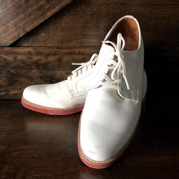 Vintage men's white bucks, mens' shoes by Dexter,