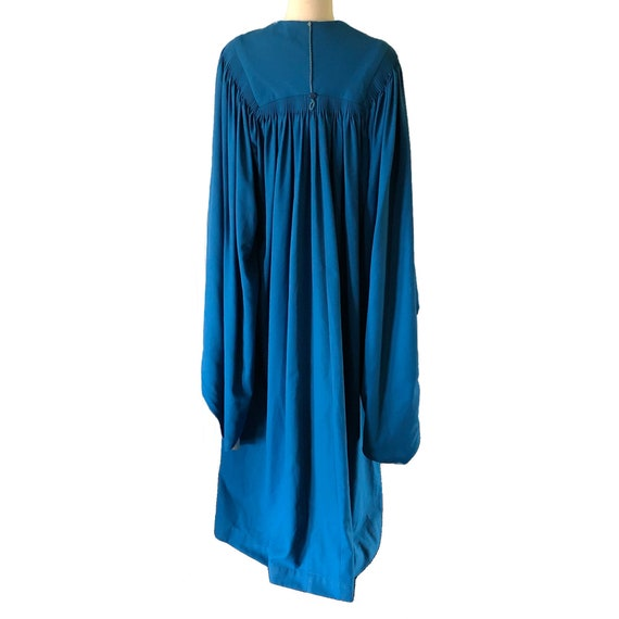 Vintage graduation gown, choir robe, blue, angel … - image 4