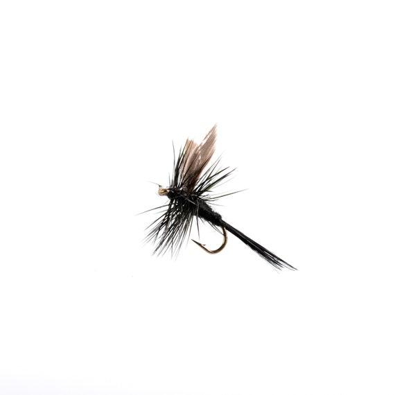 Noir moucheron sèche pêche mouche tailles 16 et 18 disponibles