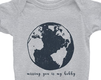 Missing you is my hobby onesie Infant Bodysuit, Baby Onesie, Baby Boy Onesie, Baby Girl Onesie, Infant Clothes, Mothers day gift, Babyshower