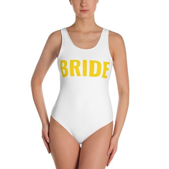Custom Text, One Piece Swimsuit, Bikini, Custom Bathing suit , Personalized Swimwear, Bride Squad Swim, Customized Swim, Your text