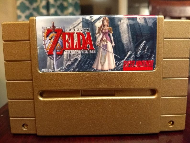 Play as Zelda! Custom Version Zelda: A Link to the Past Play as Zelda! SNES  Super Nintendo Reproduction Cart