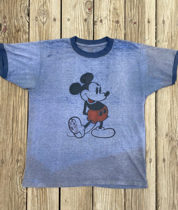 Vintage 1970s Mickey Mouse Ringer t-shirt size Med