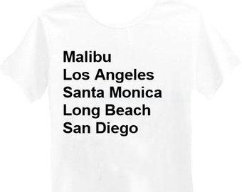California Cities Tshirt