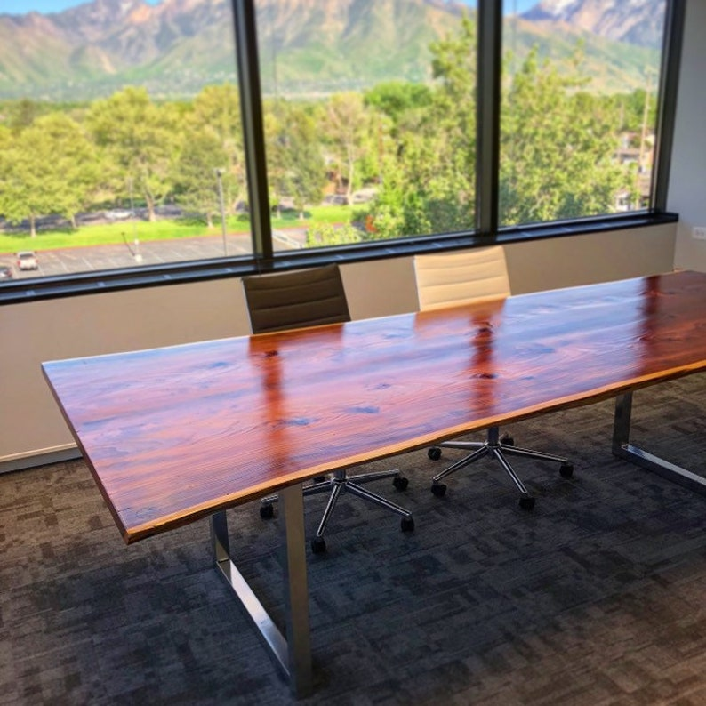 9ft Conference table ~ Redwood Live Edge