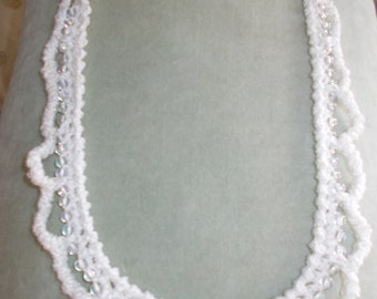 1 necklace hand made crochet beads necklace