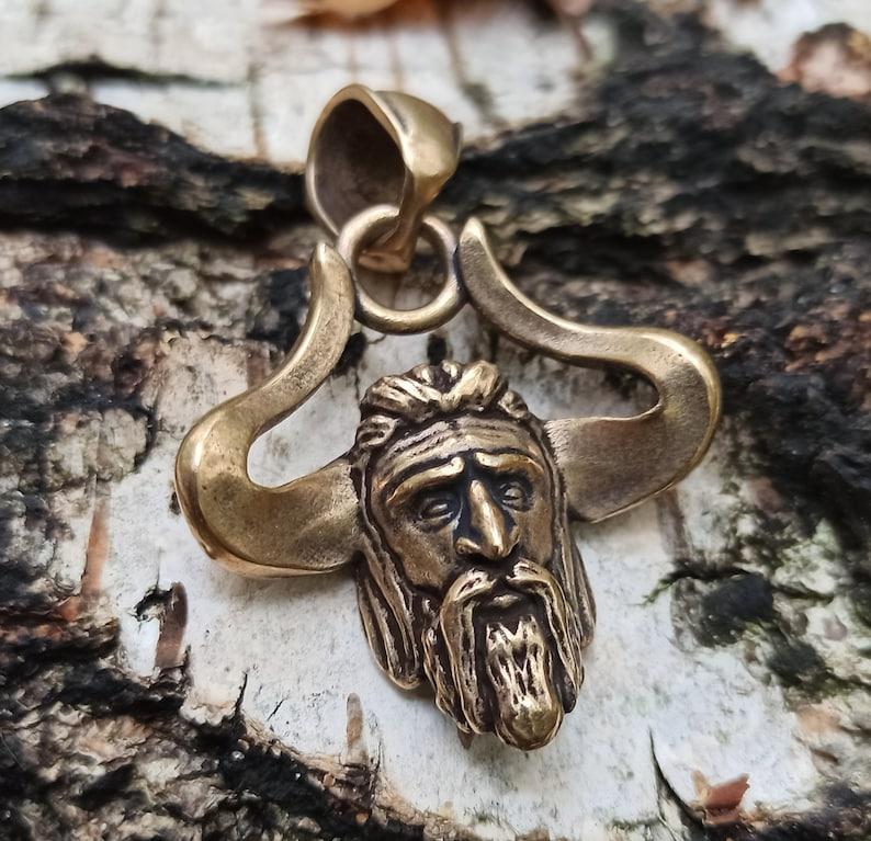 God Veles bear necklace Slavic pagan jewelry