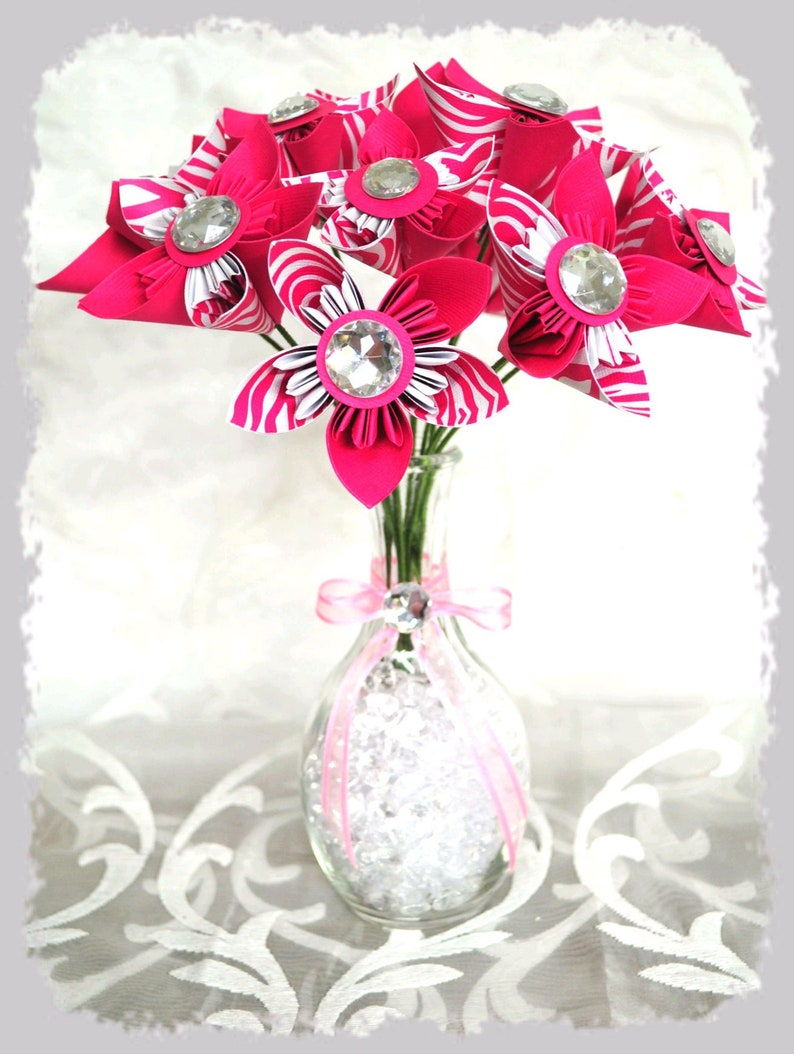 origami Decoration or present to offer signed fleurigami eternal and unique paper flowers