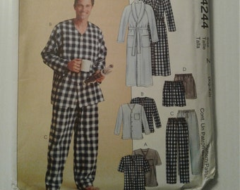 McCall's 4244 UNCUT pattern, Men's pajama top pants shorts robe, size xL & xxL, FREE SHIPPING see photos for garment sizing info