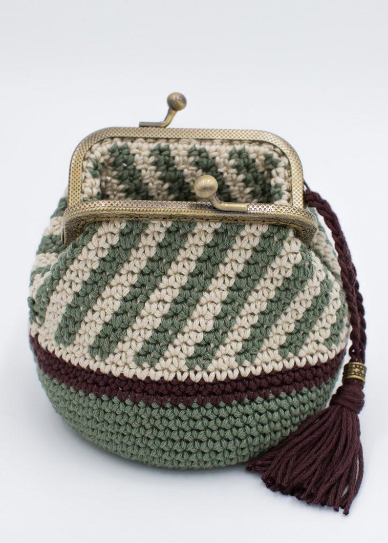 Crochet Wallet Coin Purse Cute Purse Crochet Coin Purse Handmade Crochet Wallet Kiss Lock Coin Purse Purse With Frame