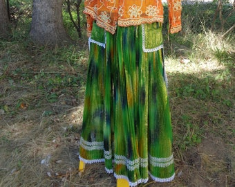 """Authentic Gypsy Dress - Apron and Skirt... The """"Mishto"""""""