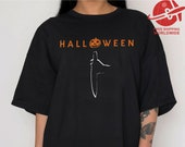 T SHIRT HALLOWEEN Oversized shirt PUMPKIN t-shirt witch ladies dress letter print cult movie horror woman gift clothes