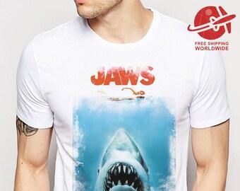0a2d680947360d T SHIRT JAWS   Unisex Sizes Xs-5XL   tshirt vintage   tee movie   tshirts  retro   tees old school   tshirt classic movies   horror