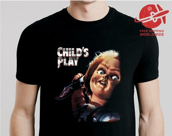 5f90a76f T SHIRT CHILD'S PLAY / Men Woman Kids Sizes Xs-5XL / tshirt movie / tee  horror / shirt gift / top / blouse / print / chucky / retro /classic
