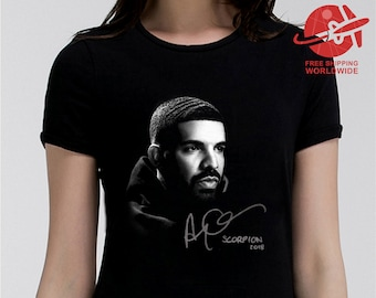 f7f910d18 DRAKE T SHIRT SCORPION Shirt Print 100% Cotton Tee Black Color Tshirt Men's  Women's Kids Sizes