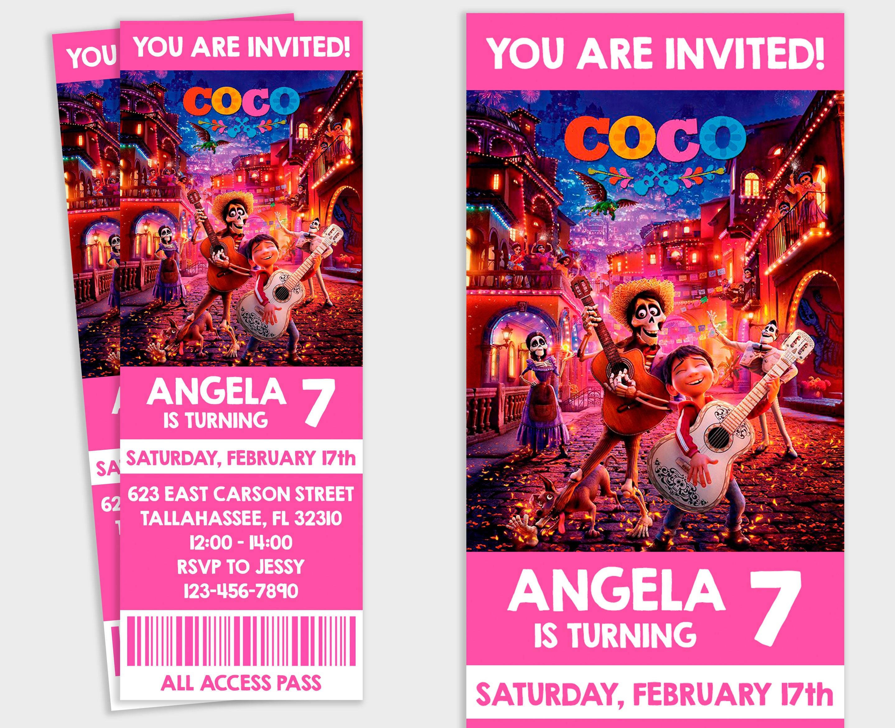 Coco Invitation Coco Party Birthday Invitation Coco | Etsy