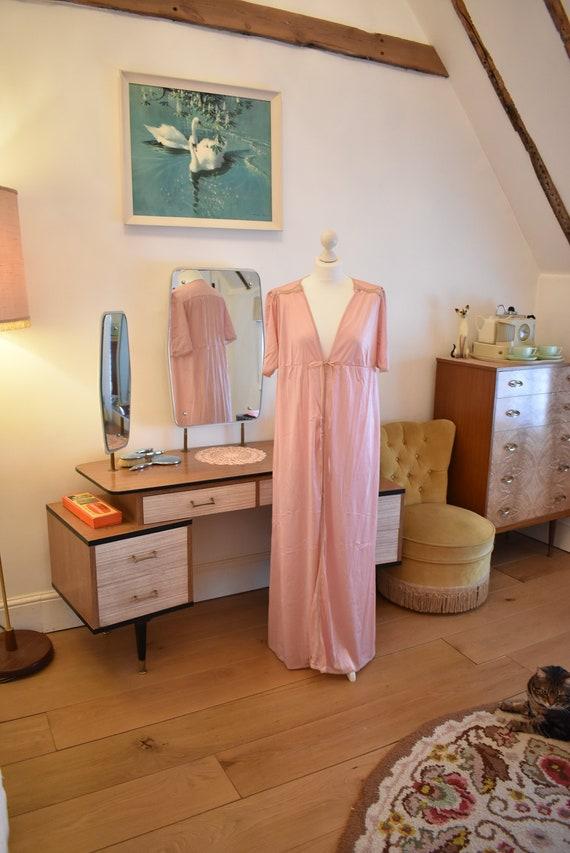 Vintage 1960s  1970s Slip UK Size Medium Nylon Negligee with 38 Chest Martin Emprex Lingerie in Pink
