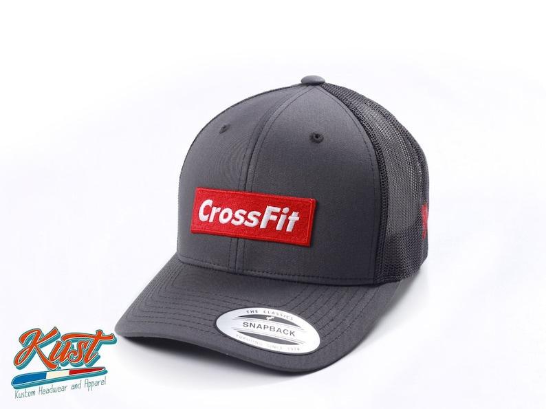 e05a74fa8f66f Supreme CrossFit embroidered retro trucker cap