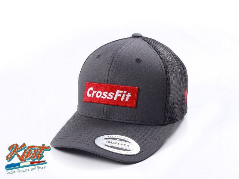 1062dacdc7c1fb Supreme CrossFit embroidered retro trucker cap | Etsy