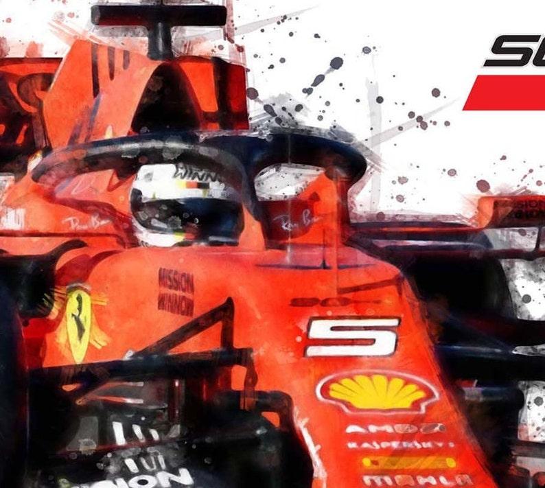 F1 Posters Cars Grand Prix Gifts Presents Ferrari Racing Etsy
