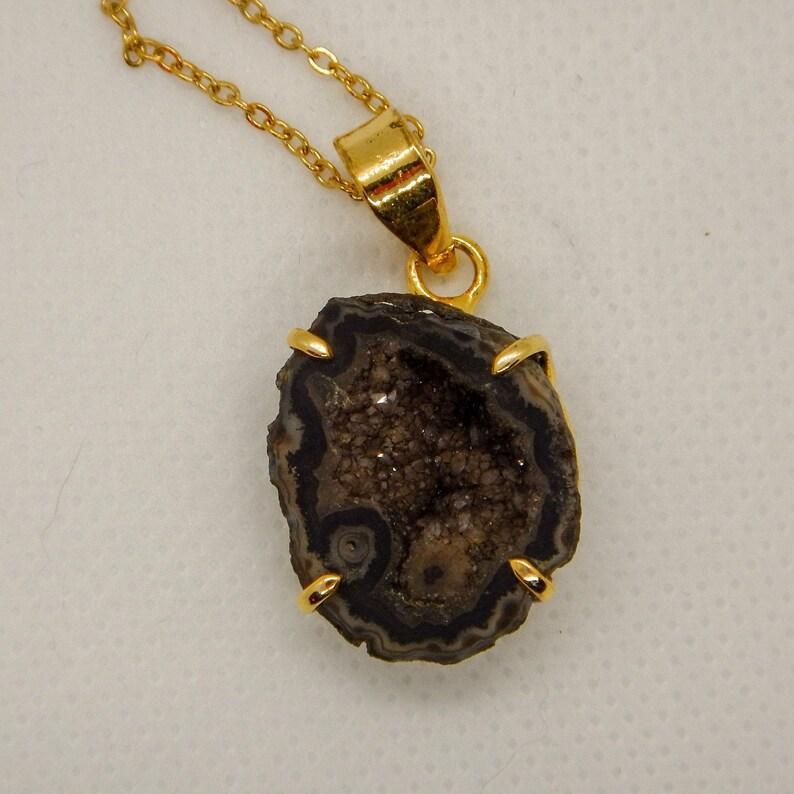Black Quartz Agate Necklace