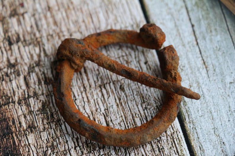 Ancient Iron Fibula Vikings fibula C  9th-10th Century AD bronze fibula  Brooch Authentic Viking Artifact 1000 years old Viking Jewelry #