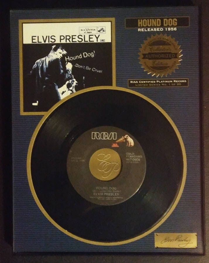 Riaa Certified Platinum Record Limited Series 1 Of 90 Elvis Etsy