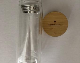 Loose Leaf Tea Infuser Water Bottle- Cup Mug - tea filter - glass bottle