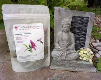 Organic Calm- Pitta Balance - suitable for Menopause Tea - Herbal - A cooling and refreshing blend of peppermint, flowers and herbs