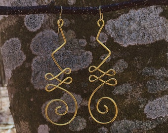 Hanging Unalome Earrings