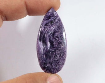 Top Quality Charoite BB-4990 50X23X5 MM Top Grade Charoite Loose Cabochon For Making Jewelry 54 Ct Conclusive AAA+ One Rare Oval Shape
