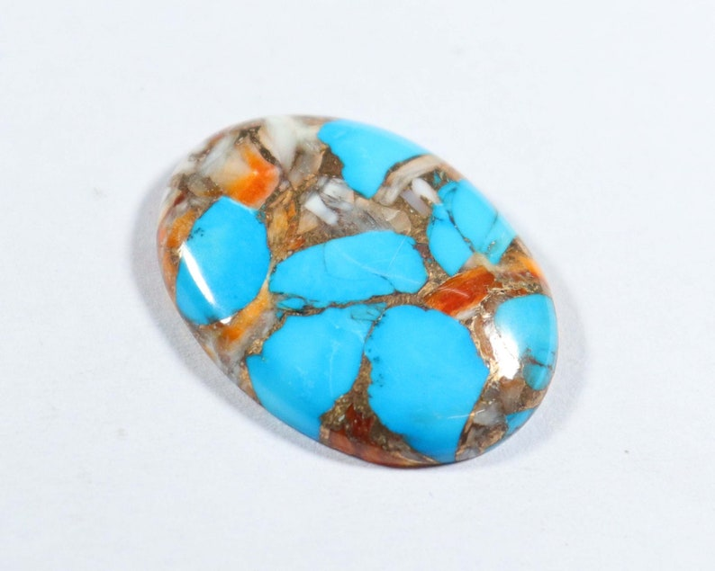 Top Designer Oyster Copper Turquoise Cabochon Oval 27x20x5 mm Oyster Turquoise Jewelry Making Smooth Cabochon Natural Turquoise Gemstone