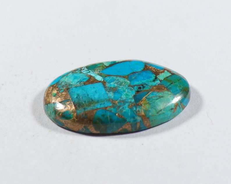 Rare Azurite Copper Turquoise Cabochon 1 Pcs Oval Shape High Quality 29x20xx5 mm Turquoise Gemstone Natural Azurite Copper Turquoise