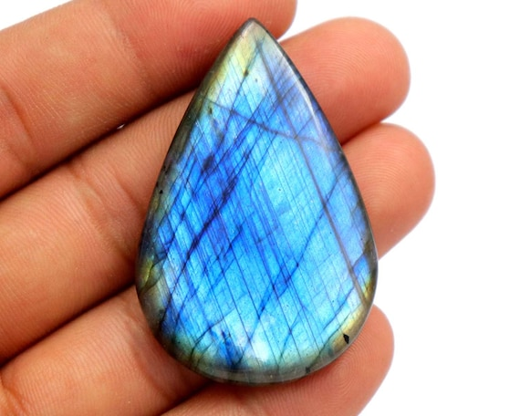 Pack of 4 Pieces Code #A6 Natural Labradorite Cabs Labradorite Cabochon 8x10 mm Labradorite Stone Blue Color AAA Quality