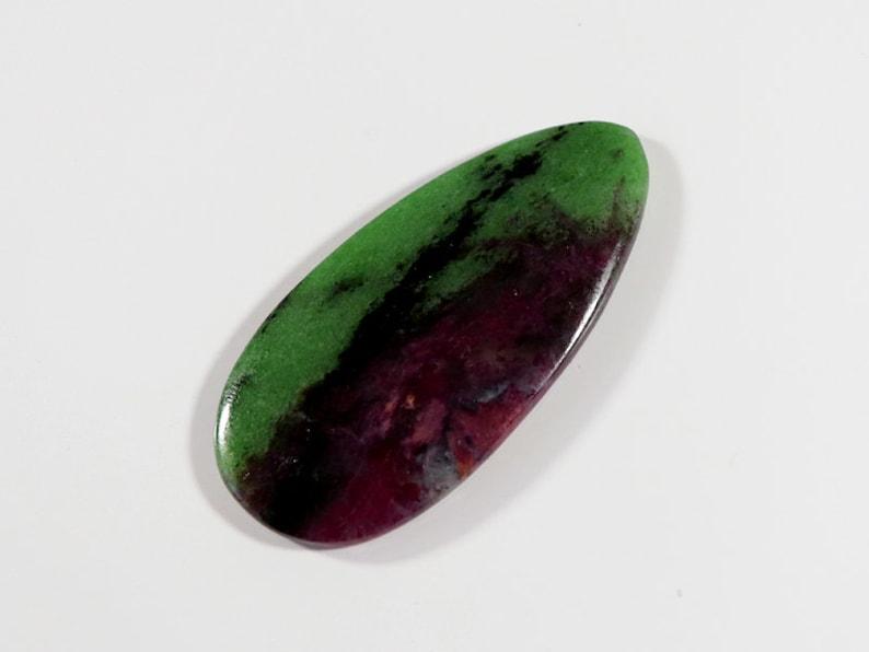 One Side PolishedRZ417 60x29x5 mm Ruby Zoisite Loose Stone Egg Shape 88 Cts Big size Ruby Zoisite Gemstone,Natural Ruby Zoisite Cabochon