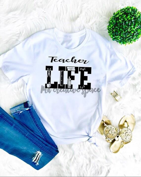 Teacher Life Svg Dxf Eps Png Teacher Life Design Life Etsy