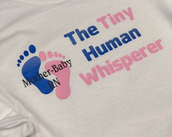 labor and delivery nurse shirt the tiny human whisperer motherbaby rn mother baby nurse ld