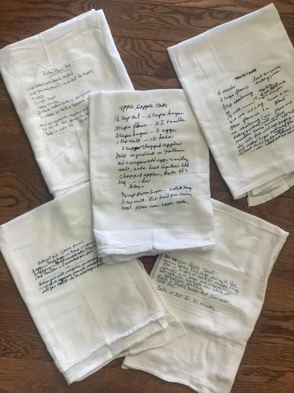 Handwritten Recipe Tea Towel - Custom Tea Towel - Personalized gift -  Grandma recipe keepsake - mother recipe keepsake - Mothers Day gift