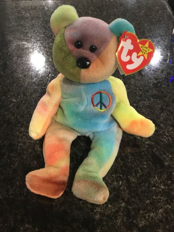 cd8950170d0 Peace Rare and Retired Ty Beanie Baby With Multiple Errors