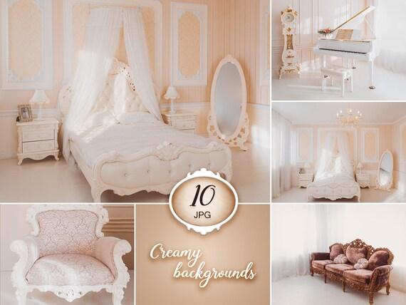 10 Creamy Digital Backgrounds Wedding Backdrops Light Bedroom Backdrop Indoor Backdrop Interior Background Room Photoshop Overlays Jpg