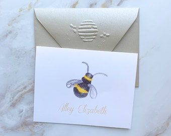 Thank You Notecards Thank You Card Set Bee Thank You Cards Blank Bee Thank You Note Cards Set of 8