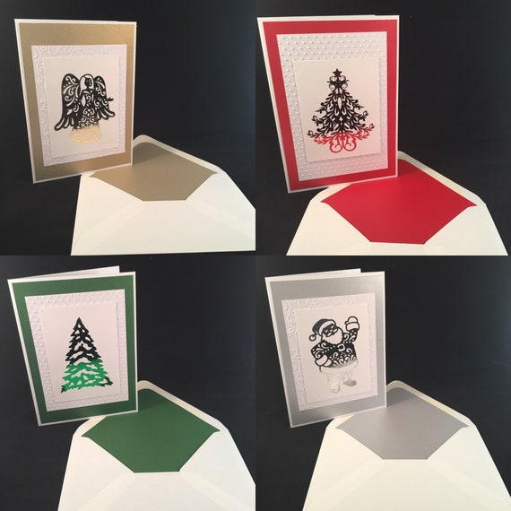 Custom Foil Embossed Holiday/Christmas Cards 5x7