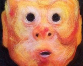 "wool painting ""Kagura masks"""
