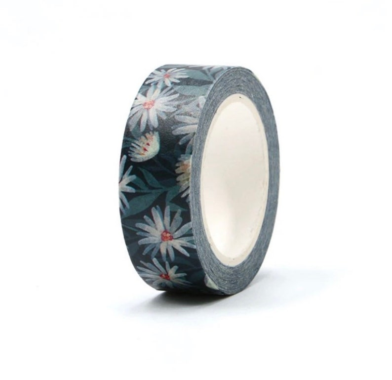 Journal Supplies Washi Tape Scrapbook Floral Decorative Tape Planner Accessories Daisy Washi Tape