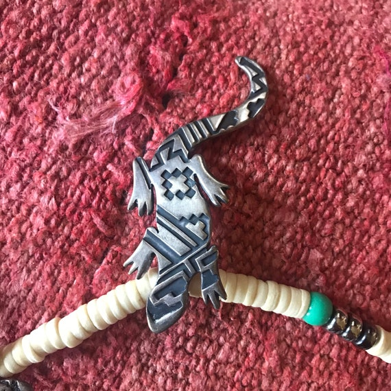 Vintage Sterling Silver Lizard Gecko and Snake Be… - image 5