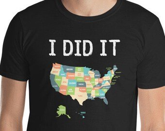 States Etsy - Travel to all 50 states map