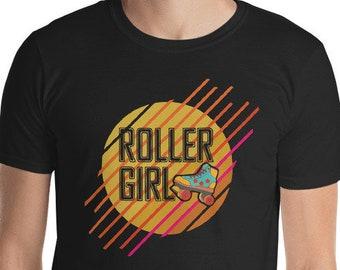 Roller girl shirt, Roller Skate shirt for girls, Roller Derby Shirt, Womens Roller skate party shirts, Roller girl t-shirt, 90's shirts