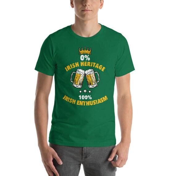St Patrick/'s Day Irish and Proud Kelly Green Shirts